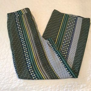 Forever 21 Flowy Boho Pants Blue Green Black XS